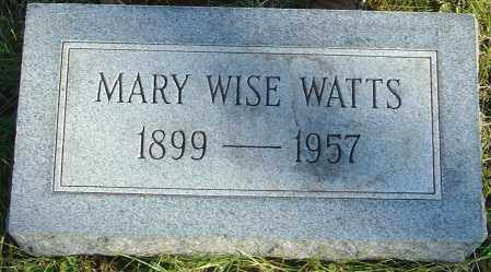 WISE WATTS, MARY - Franklin County, Ohio | MARY WISE WATTS - Ohio Gravestone Photos