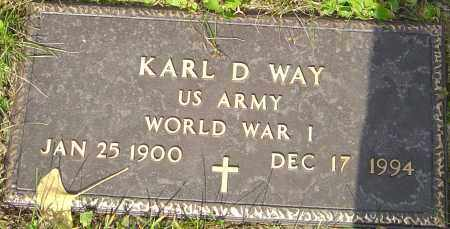 WAY, KARL - Franklin County, Ohio | KARL WAY - Ohio Gravestone Photos