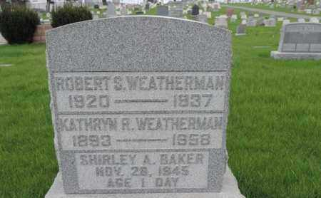 WEATHERMAN, ROBERT S - Franklin County, Ohio | ROBERT S WEATHERMAN - Ohio Gravestone Photos