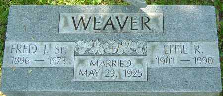 WEAVER SR, FRED J - Franklin County, Ohio | FRED J WEAVER SR - Ohio Gravestone Photos