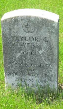 WEBB, TAYLOR C. - Franklin County, Ohio | TAYLOR C. WEBB - Ohio Gravestone Photos