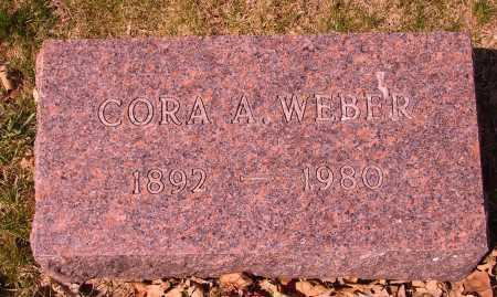 WEBER, CORA A. - Franklin County, Ohio | CORA A. WEBER - Ohio Gravestone Photos