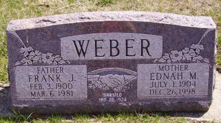 WEBER, EDNAH M. - Franklin County, Ohio | EDNAH M. WEBER - Ohio Gravestone Photos