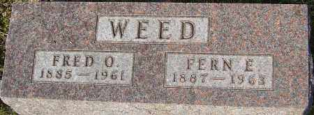WEED, FRED - Franklin County, Ohio | FRED WEED - Ohio Gravestone Photos