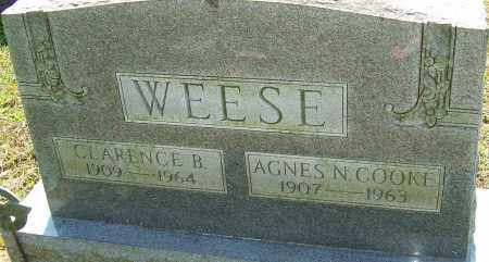 COOKE WEESE, AGNES - Franklin County, Ohio | AGNES COOKE WEESE - Ohio Gravestone Photos