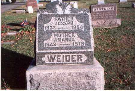 WEIDER, JOSEPH - Franklin County, Ohio | JOSEPH WEIDER - Ohio Gravestone Photos