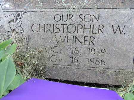 WEINER, CHISTOPHER W. - Franklin County, Ohio | CHISTOPHER W. WEINER - Ohio Gravestone Photos