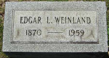 WEINLAND, EDGAR L - Franklin County, Ohio | EDGAR L WEINLAND - Ohio Gravestone Photos