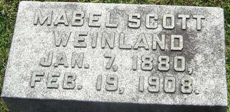 SCOTT WEINLAND, MABEL - Franklin County, Ohio | MABEL SCOTT WEINLAND - Ohio Gravestone Photos