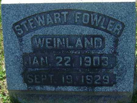 WEINLAND, STEWART FOWLER - Franklin County, Ohio | STEWART FOWLER WEINLAND - Ohio Gravestone Photos