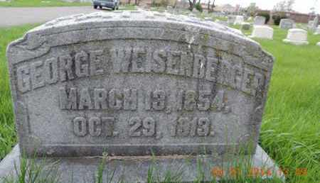 WEISENBERGER, GEORGE - Franklin County, Ohio | GEORGE WEISENBERGER - Ohio Gravestone Photos