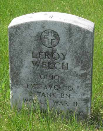 WELCH, LEROY - Franklin County, Ohio | LEROY WELCH - Ohio Gravestone Photos