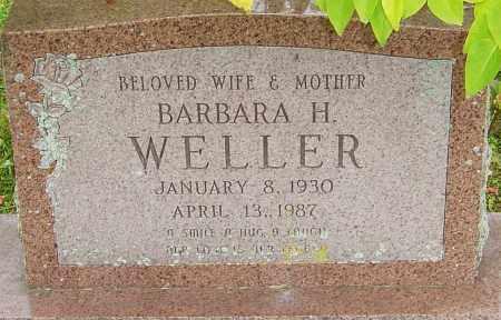 WELLER, BARBARA - Franklin County, Ohio | BARBARA WELLER - Ohio Gravestone Photos