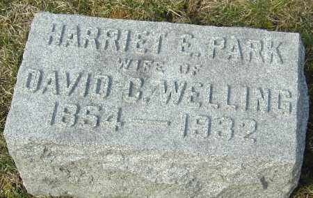 PARK WELLING, HARRIET E - Franklin County, Ohio | HARRIET E PARK WELLING - Ohio Gravestone Photos