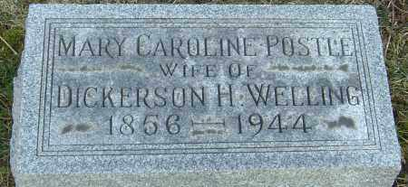 POSTLE WELLING, MARY CAROLINE - Franklin County, Ohio | MARY CAROLINE POSTLE WELLING - Ohio Gravestone Photos