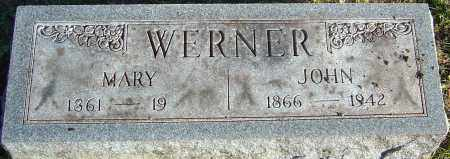 WERNER, MARY - Franklin County, Ohio | MARY WERNER - Ohio Gravestone Photos
