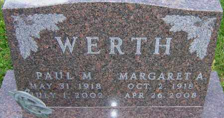 WERTH, MARGARET - Franklin County, Ohio | MARGARET WERTH - Ohio Gravestone Photos