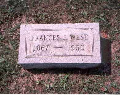 ARMES WEST, FRANCES J. - Franklin County, Ohio | FRANCES J. ARMES WEST - Ohio Gravestone Photos