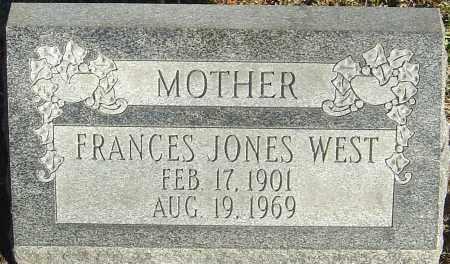 WEST, FRANCES JONES - Franklin County, Ohio | FRANCES JONES WEST - Ohio Gravestone Photos
