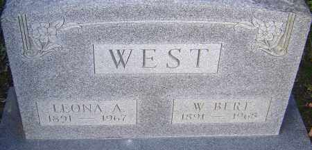 WEST, LEONA - Franklin County, Ohio | LEONA WEST - Ohio Gravestone Photos