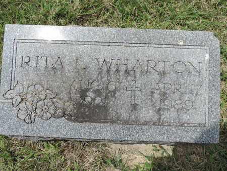 WHARTON, RITA L. - Franklin County, Ohio | RITA L. WHARTON - Ohio Gravestone Photos