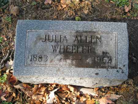 ALLEN WHEELER, JULIA MOORE - Franklin County, Ohio | JULIA MOORE ALLEN WHEELER - Ohio Gravestone Photos