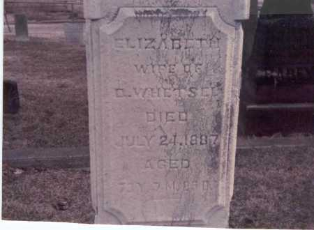 WHETSEL, ELIZABETH - Franklin County, Ohio | ELIZABETH WHETSEL - Ohio Gravestone Photos