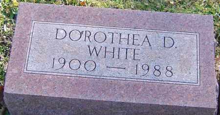 WHITE, DOROTHEA D - Franklin County, Ohio | DOROTHEA D WHITE - Ohio Gravestone Photos