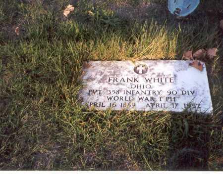 WHITE, FRANK - Franklin County, Ohio | FRANK WHITE - Ohio Gravestone Photos
