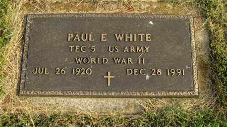 WHITE, PAUL E. - Franklin County, Ohio | PAUL E. WHITE - Ohio Gravestone Photos