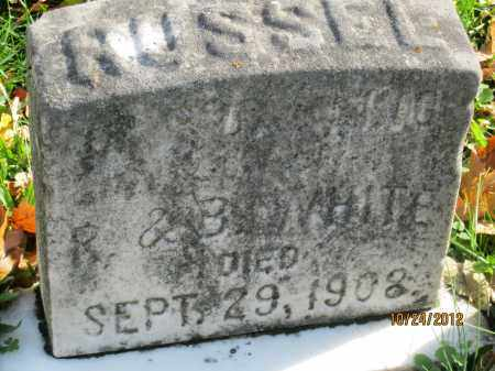 WHITE, RUSSEL - Franklin County, Ohio | RUSSEL WHITE - Ohio Gravestone Photos