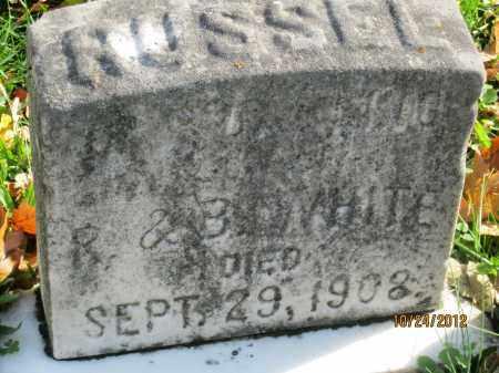 WHITE, RUSSEL - Franklin County, Ohio | RUSSEL WHITE - Ohio Gravestone Photos