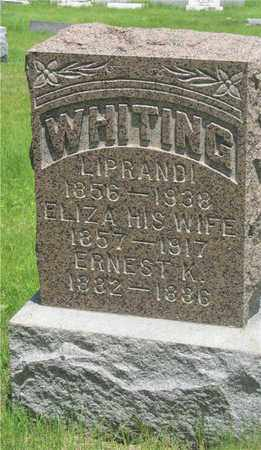 WHITING, LIPRANDI - Franklin County, Ohio | LIPRANDI WHITING - Ohio Gravestone Photos