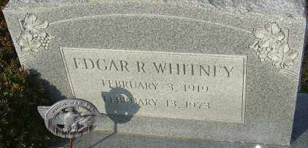 WHITNEY, EDGAR R - Franklin County, Ohio | EDGAR R WHITNEY - Ohio Gravestone Photos