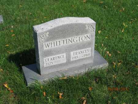 WHITTINGTON, FRANCES - Franklin County, Ohio | FRANCES WHITTINGTON - Ohio Gravestone Photos