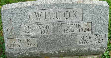 WILCOX, JENNIE - Franklin County, Ohio | JENNIE WILCOX - Ohio Gravestone Photos
