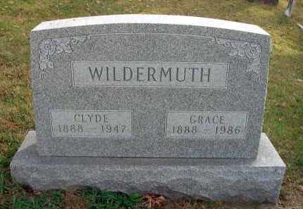 WILDERMUTH, CLYDE - Franklin County, Ohio | CLYDE WILDERMUTH - Ohio Gravestone Photos