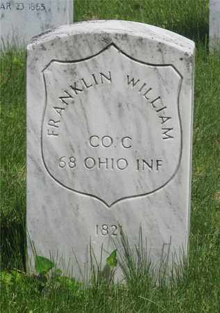 WILLIAM, FRANKLIN - Franklin County, Ohio | FRANKLIN WILLIAM - Ohio Gravestone Photos