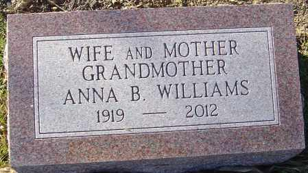 WILLIAMS, ANNA B - Franklin County, Ohio | ANNA B WILLIAMS - Ohio Gravestone Photos