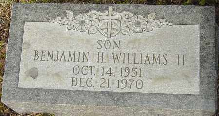 WILLIAMS II, BENJAMIN H - Franklin County, Ohio | BENJAMIN H WILLIAMS II - Ohio Gravestone Photos