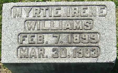 WILLIAMS, MYRTIE IRENE - Franklin County, Ohio | MYRTIE IRENE WILLIAMS - Ohio Gravestone Photos