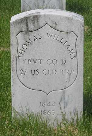 WILLIAMS, THOMAS - Franklin County, Ohio | THOMAS WILLIAMS - Ohio Gravestone Photos