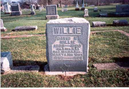 WILLIE, DAVID - Franklin County, Ohio | DAVID WILLIE - Ohio Gravestone Photos