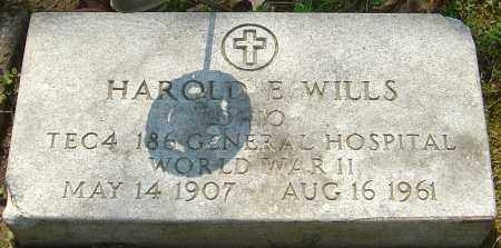 WILLS, HAROLD E - Franklin County, Ohio | HAROLD E WILLS - Ohio Gravestone Photos