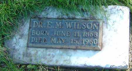 WILSON, EDGAR M - Franklin County, Ohio | EDGAR M WILSON - Ohio Gravestone Photos