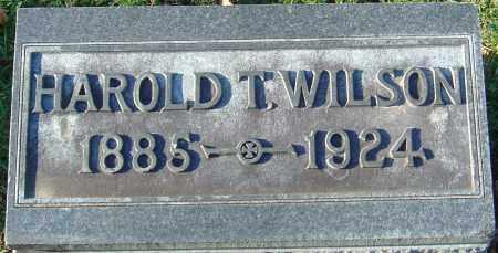 WILSON, HAROLD T - Franklin County, Ohio | HAROLD T WILSON - Ohio Gravestone Photos