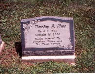 WINE, DOROTHY J. - Franklin County, Ohio | DOROTHY J. WINE - Ohio Gravestone Photos