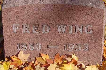WING, FRED - Franklin County, Ohio | FRED WING - Ohio Gravestone Photos