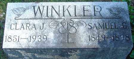 WINKLER, SAMUEL G - Franklin County, Ohio | SAMUEL G WINKLER - Ohio Gravestone Photos