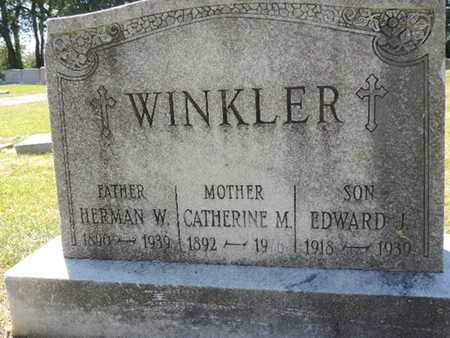 WINKLER, EDWARD J. - Franklin County, Ohio | EDWARD J. WINKLER - Ohio Gravestone Photos